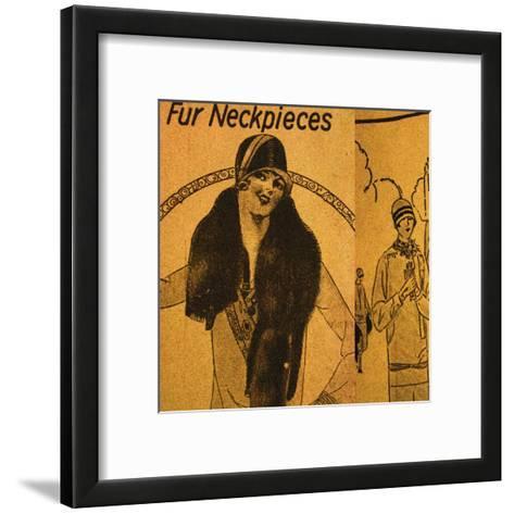 Vintage Womenwear 1925 III (Yellow)-Jean-Fran?ois Dupuis-Framed Art Print
