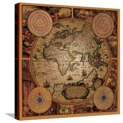 Antique Map, Cartographica I--Stretched Canvas Print