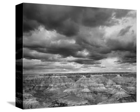 Grand Canyon Powell Point Black and White I-Danny Burk-Stretched Canvas Print