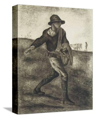 Sower (after Millet)-Vincent van Gogh-Stretched Canvas Print