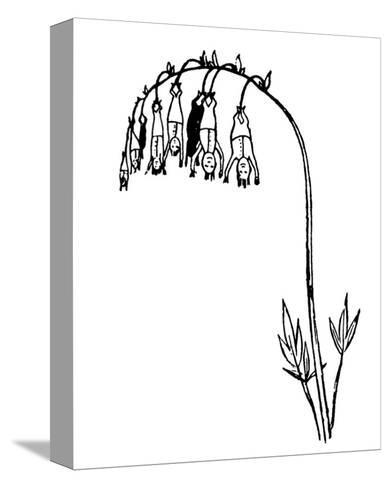 Manypeeplia Upsidownia-Edward Lear-Stretched Canvas Print