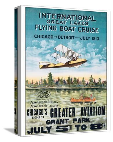 International Great Lakes Flying Boat Cruise, Chicago to Detroit, c.1913--Stretched Canvas Print