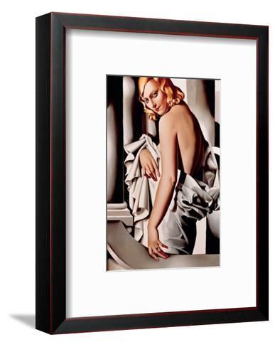 Portrait de Marjorie Ferry-Tamara de Lempicka-Framed Art Print