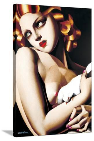 Woman with Dove-Tamara de Lempicka-Stretched Canvas Print