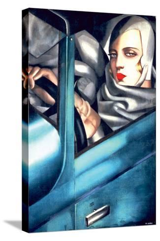 Autoportrait-Tamara de Lempicka-Stretched Canvas Print