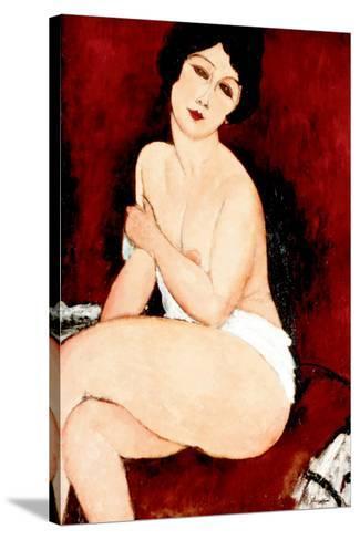 Beautiful Woman-Amedeo Modigliani-Stretched Canvas Print