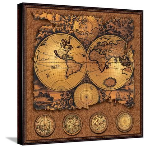 Antique Map, Cartographica III--Stretched Canvas Print