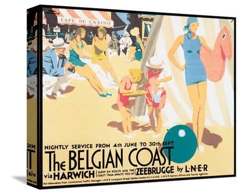 The Belgian Coast-Frank Newbould-Stretched Canvas Print