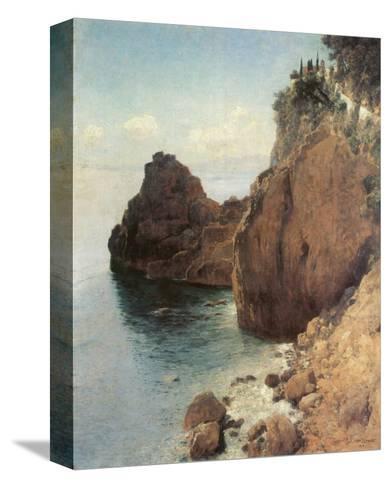Cliffs near Final-Marina-Eugen Bracht-Stretched Canvas Print