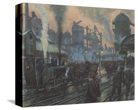Ironworks-Hans Baluschek-Stretched Canvas Print