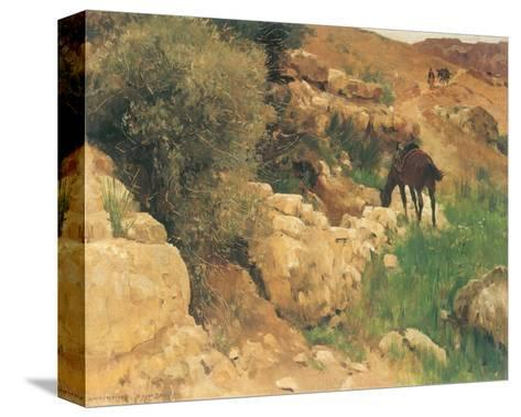 Ancient Source in Syria-Eugen Bracht-Stretched Canvas Print