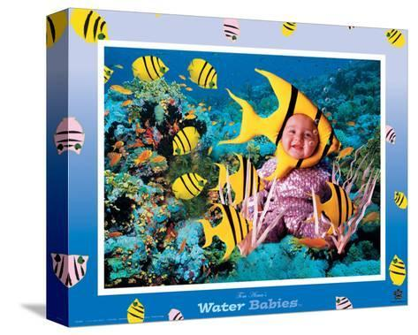 Water Babies, Yellow Fish-Tom Arma-Stretched Canvas Print