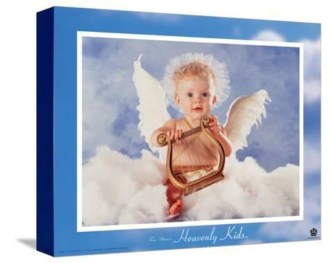 Heavenly Kids, Harp-Tom Arma-Stretched Canvas Print