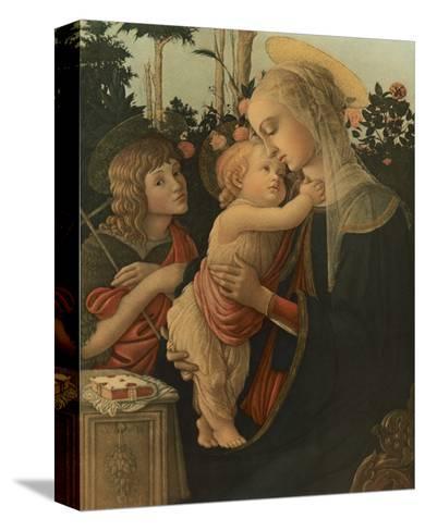 La Vierge avec l'Enfant et St. Jean-Sandro Botticelli-Stretched Canvas Print