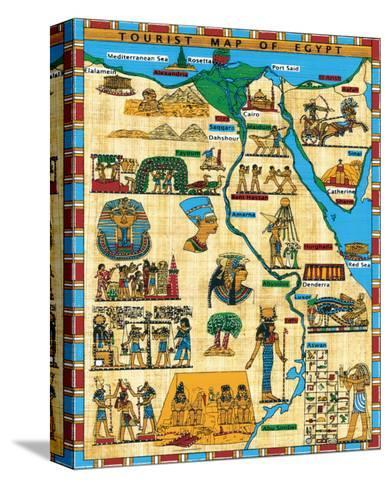 Tourist Map of Egypt--Stretched Canvas Print