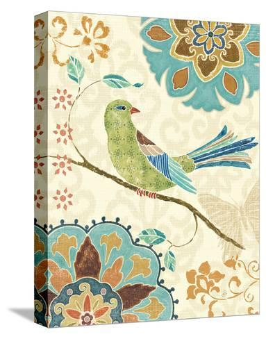 Eastern Tales Birds II-Daphne Brissonnet-Stretched Canvas Print