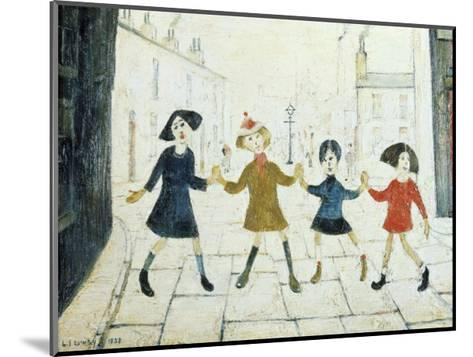 Children Playing-Laurence Stephen Lowry-Mounted Art Print