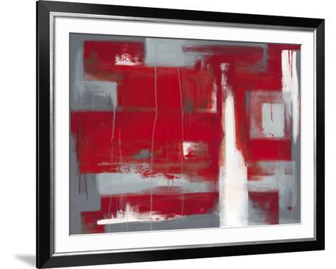 Red Abstract-Leigh Banks-Framed Art Print