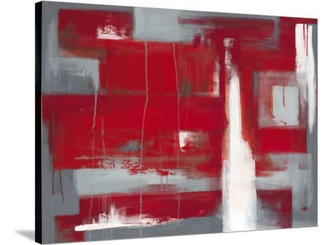 Red Abstract-Leigh Banks-Stretched Canvas Print