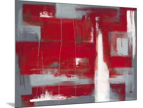 Red Abstract-Leigh Banks-Mounted Art Print