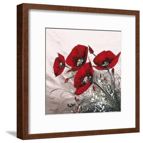 Bouquet de Coquelicots II-Olivier Tramoni-Framed Art Print