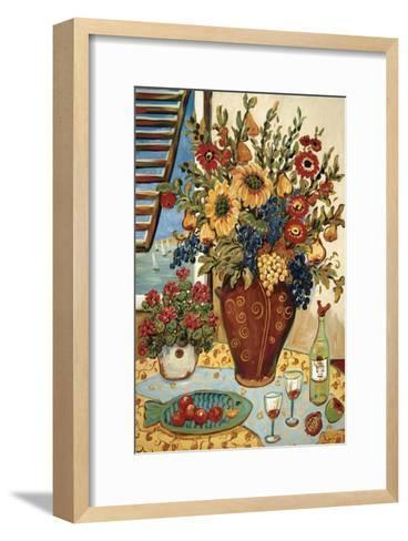Flowers By The Window-Suzanne Etienne-Framed Art Print