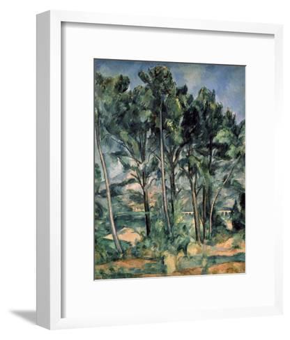The Aqueduct at Montagne Sainte-Victoire-Paul C?zanne-Framed Art Print