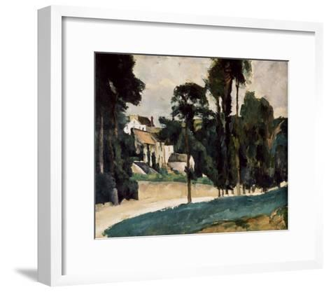 A Way In A Path-Paul C?zanne-Framed Art Print
