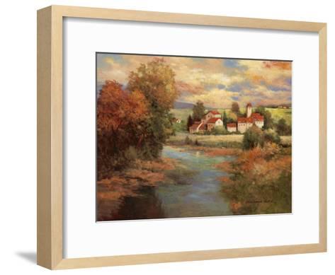Tuscan Sunset-Kanayo Ede-Framed Art Print
