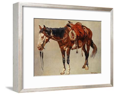 Navajo Pony-William R^ Leigh-Framed Art Print