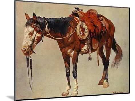 Navajo Pony-William R^ Leigh-Mounted Art Print