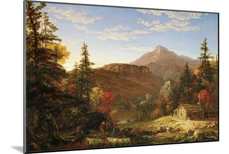 The Hunter's Return-Thomas Cole-Mounted Art Print