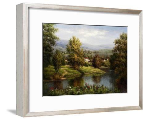 Villa at the River Bank-Hulsey-Framed Art Print