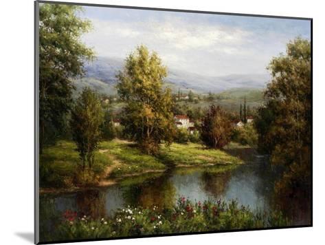 Villa at the River Bank-Hulsey-Mounted Art Print