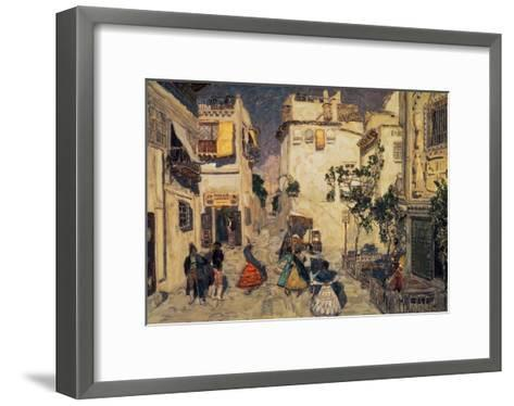 Peafowls--Framed Art Print
