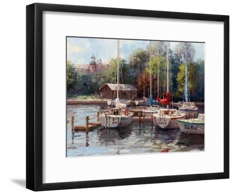 The Village Dock-Furtesen-Framed Art Print