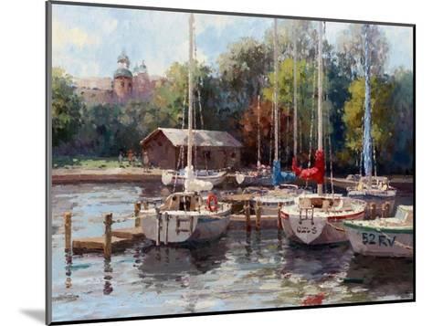 The Village Dock-Furtesen-Mounted Art Print