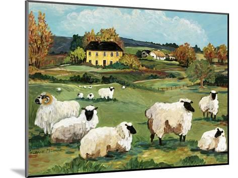 Lambs on Green Hill-Suzanne Etienne-Mounted Art Print