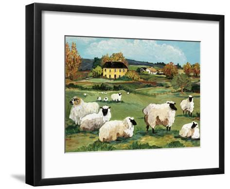 Lambs on Green Hill-Suzanne Etienne-Framed Art Print
