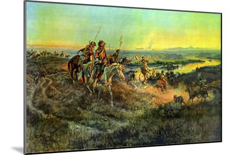 Salute of the Robe Trade-Charles Marion Russell-Mounted Art Print
