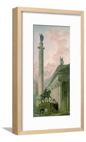 Roman Obelisk-Hubert Robert-Framed Art Print