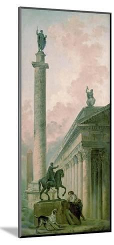 Roman Obelisk-Hubert Robert-Mounted Art Print