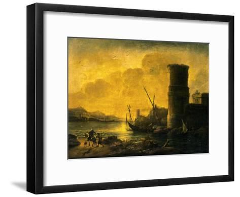 Bay at Sunset, 1549-Salvator Rosa-Framed Art Print