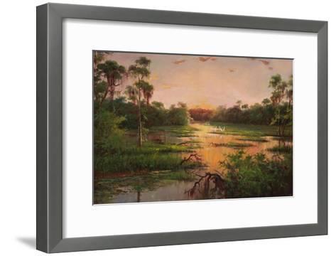 Sunset on the Bayou-Hannah Paulsen-Framed Art Print