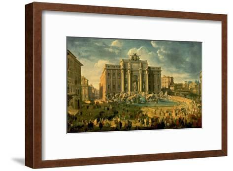 The Trevi Fountain in Rome-Giovanni Paolo Pannini-Framed Art Print