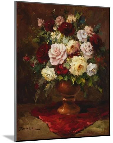 Classical Flower Arrangement-Janek-Mounted Art Print