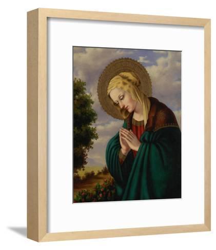 Madonna in Prayer-Joe Ortiz-Framed Art Print