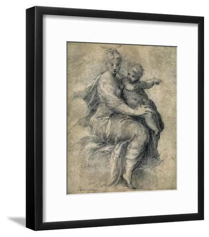 Madonna and Child on the Clouds-Parmigianino-Framed Art Print