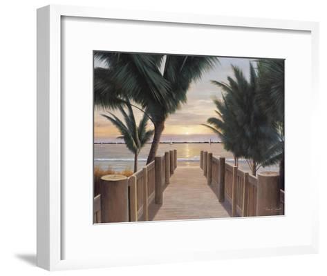 Palm Promenade-Diane Romanello-Framed Art Print