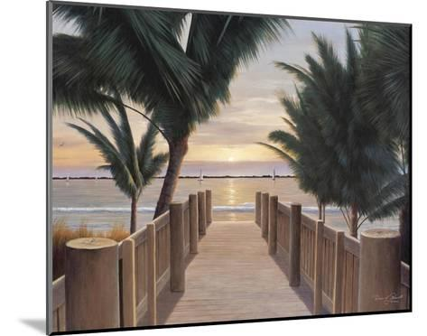 Palm Promenade-Diane Romanello-Mounted Art Print